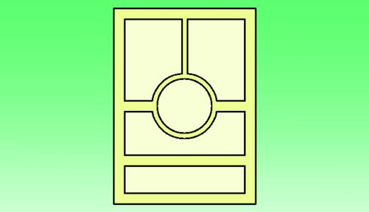 クリスタで丸いコマ枠を間隔ありで作成する方法!!(疑似コマ枠フォルダー)